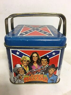 1981 Dukes Of Hazzard Metal Dual Handle Lunch Pail Lunchbox