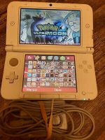 Blue Nintendo 3DS XL Handheld System with over 15 + Games - Mario + Pokemon