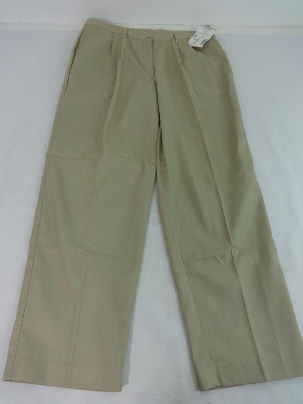 Nwt Dennis School Uniform Womens Khaki Pleated Cotton Poly