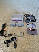 Super Nintendo Console Bundle-Two Controllers, Super Score Receiver, NBA Jam