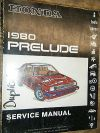 1980 HONDA PRELUDE ORIGINAL FACTORY SERVICE MANUAL SHOP REPAIR