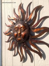- Large Metal Sun Wall Decor Rustic Garden Art ...