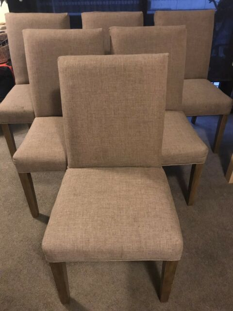 fabric dining chair covers australia backyard lounge chairs 6 linen oak legs with white you don t have any recently viewed items