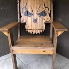 Wooden Skull Chair Lawn Covers Amazon Upcycled Collectables Gumtree Australia