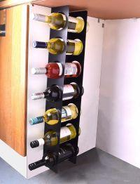 Wall Cabinet Mounted Steel Narrow Wine Rack 7 Bottle ...