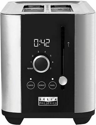 Bella Pro Series - 2-Slice Digital Touchscreen Toaster - Stainless Steel