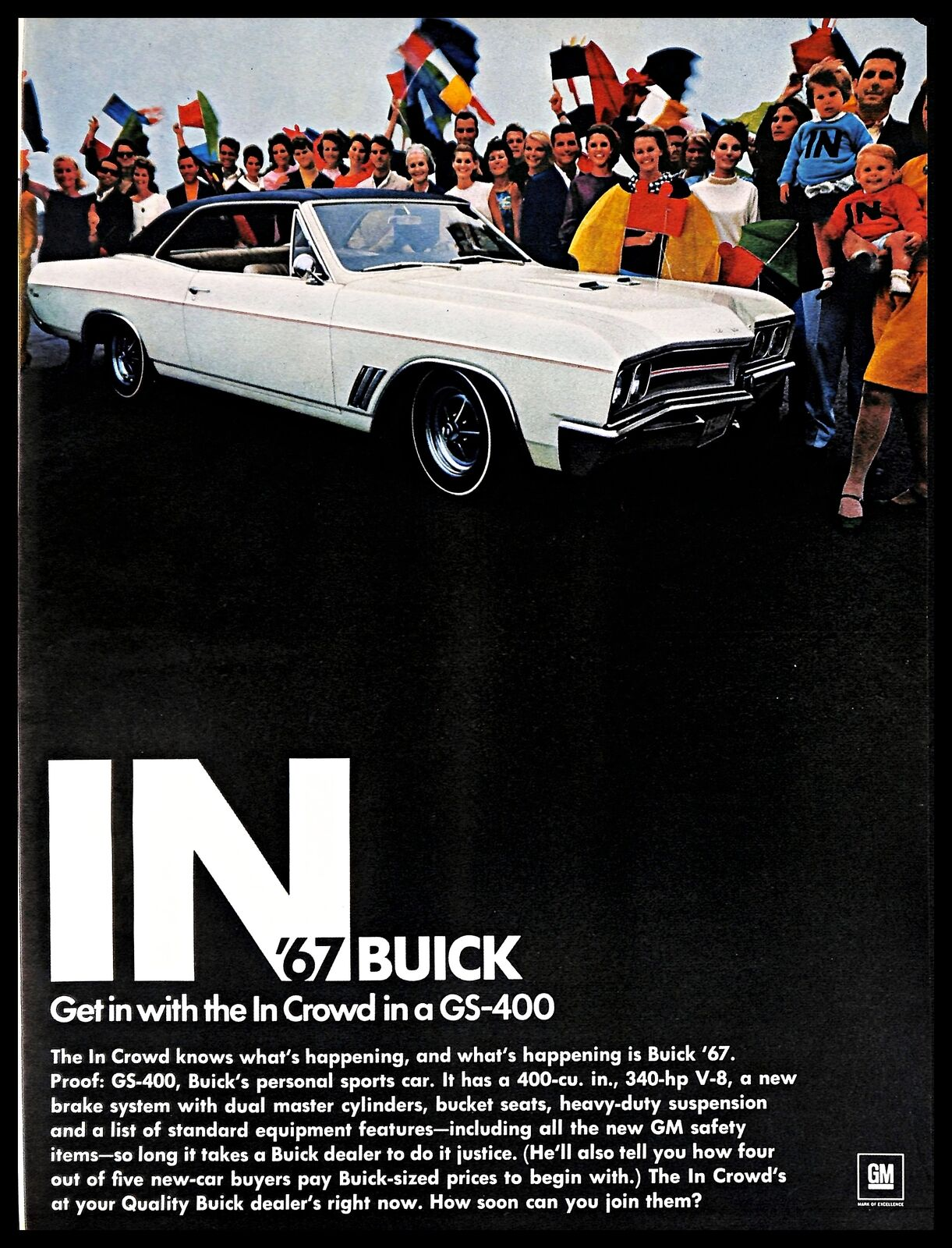 1966 Buick : buick, Buick, GS-400, Vintage, PRINT, American, Personal, Sports, Crowd, People