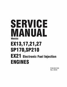 Subaru Robin Engine Service & Repair Shop Manual EX13 EX17