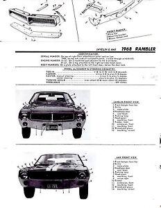 1967-RAMBLER-REBEL-AMBASSADOR-MARLIN-MOTORS-BODY-FRAME