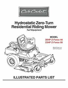 Cub-Cadet-Hydrostatic-Zero-Turn-Riding-Mower-Parts-Manual