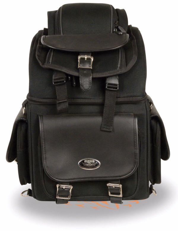 Motorcycle Large Textile Seat Travel Sissy Bar Bag