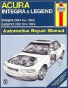 Acura Repair Manual Integra 1990-1993, Legend 1991-1995