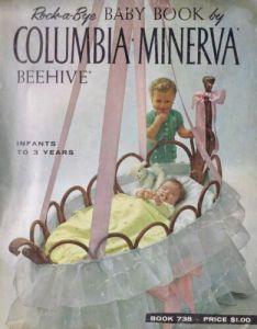 ROCK-A-BYE-BABY-BOOK-VINTAGE-KNITTING-CROCHET-LAYETTE-HAT-SWEATER-PATTERNS-1960s