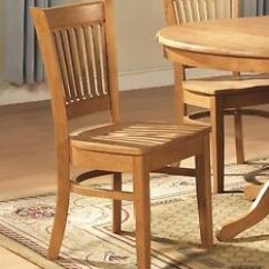 Oak Kitchen Chairs Cabinets Crown Molding Ebay Set Of 4 Vancouver Dinette Dining W Plain Wood Seat In Light