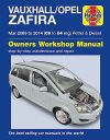 Vauxhall Zafira Repair Manual Haynes Manual Workshop Service Manual  2009-2014