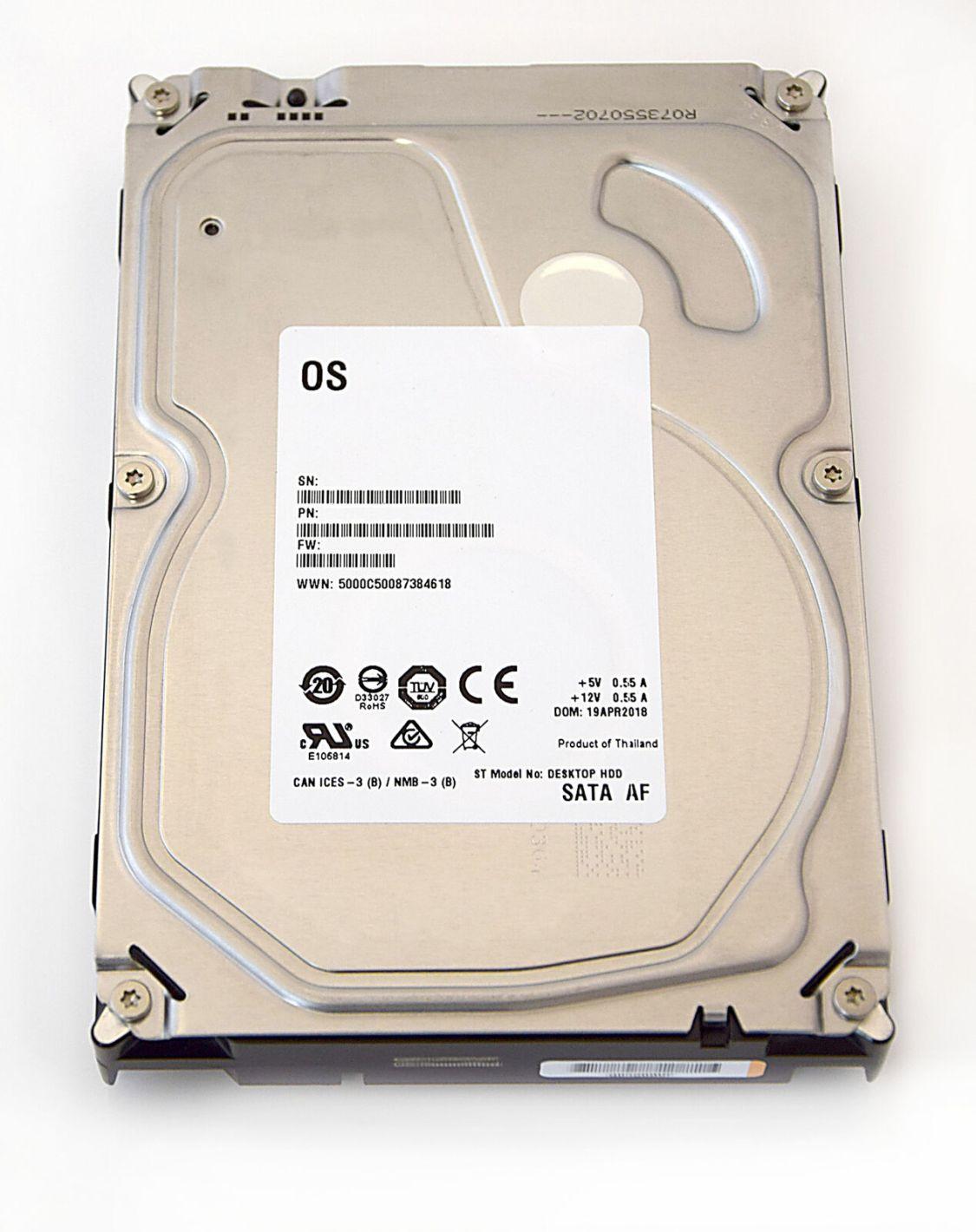 "Seagate Barracuda Desktop HDD White Label interne Festplatte 3,5"" min. 5400RPM"