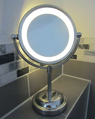 "Kosmetikspiegel mit LED-Beleuchtung 5-fache Vergößerung ""Hohe Qualität"" 33095"