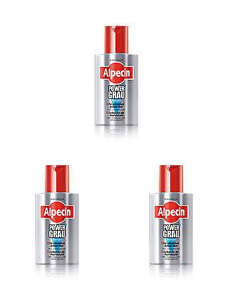 Alpecin Powergrau Power Grau Shampoo 3 x 200 ml.