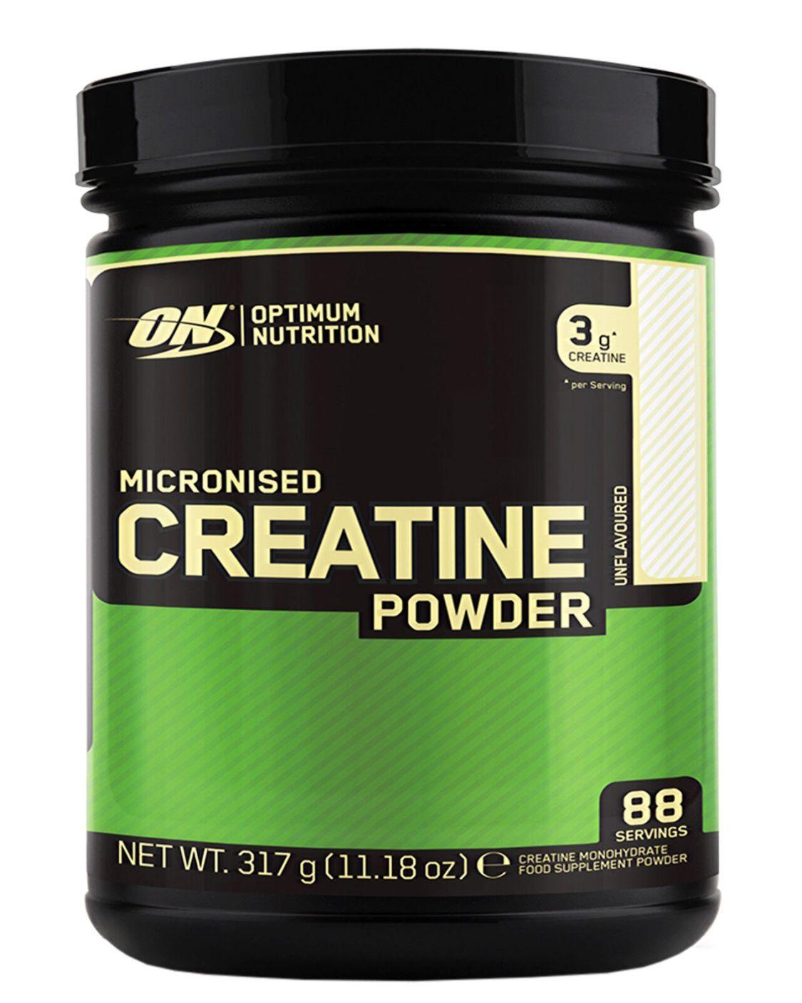 Optimum Nutrition Creatine Powder 317g Kreatin Monohydrat Kraft Muskelaufbau