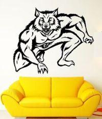 Wall Stickers Vinyl Decal Werewolf Wolf Fantasy Nursery ...
