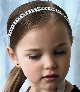 flower girl hair munion rhinestone headband with ribbon ebay