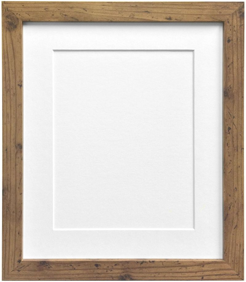 6fb93d1ab274 Rustic Oak Photo Picture Frames White Black Ivory Blue Pink Or