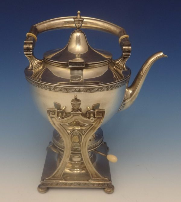 Etruscan Gorham Sterling Silver Tea Set With Kettle 5pc