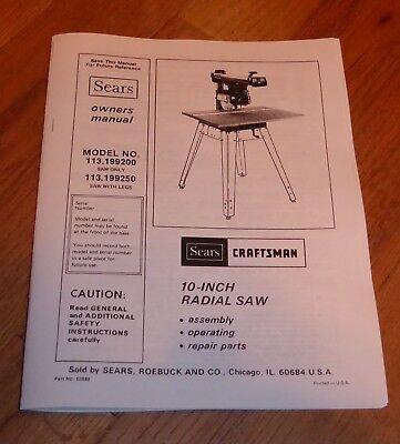 Craftsman Radial Arm Saw Manual Pdf
