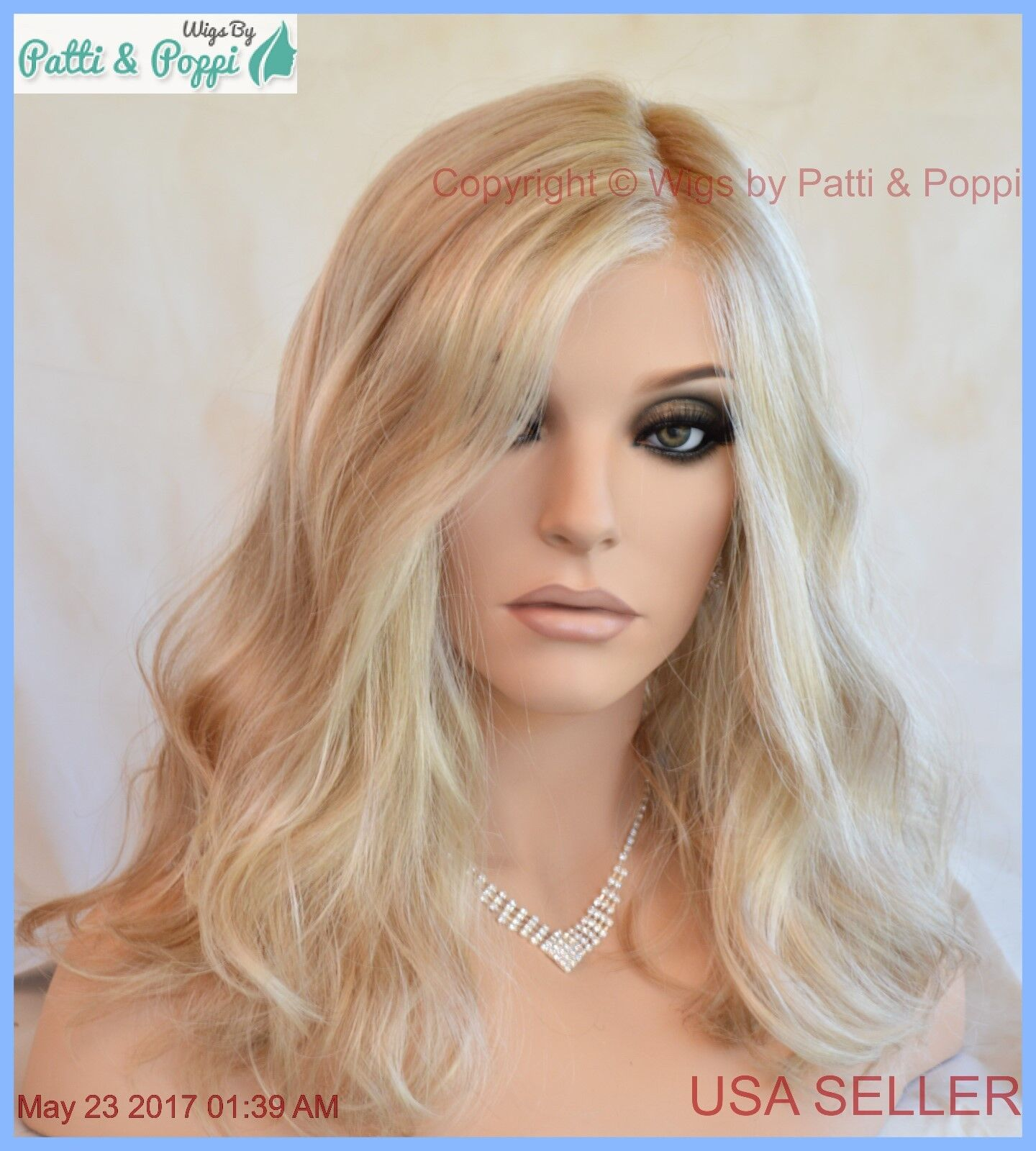 Runway waves gabor wigs color gl sandy blonde beachy wavy authentic also rh ebay