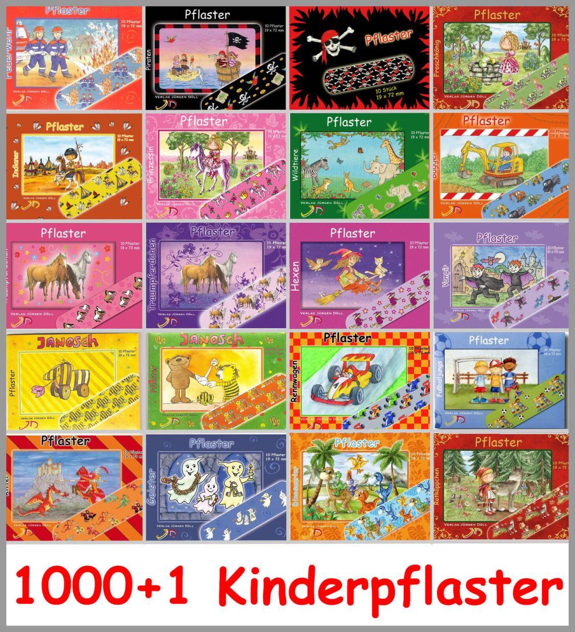 10 Kinderpflaster, Pflasterbriefchen, Pflaster für Kinder von Döll, Mitgebsel