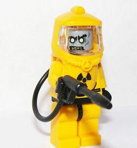 Lego Zombie Minifigure in Hazmat Suit Guy Man Scary