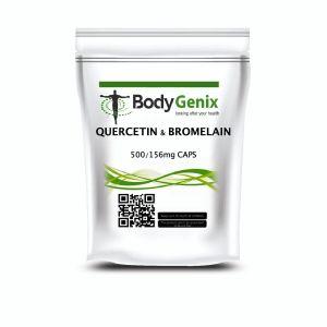 Quercetina e Bromelina Capsule Veg Bodygenix UK Immune Booster, Gonfio Giunture