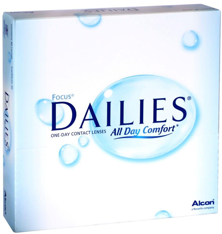 Focus Dailies All Day Comfort - 90er Box - Tageslinsen - weiche Kontaktlinsen