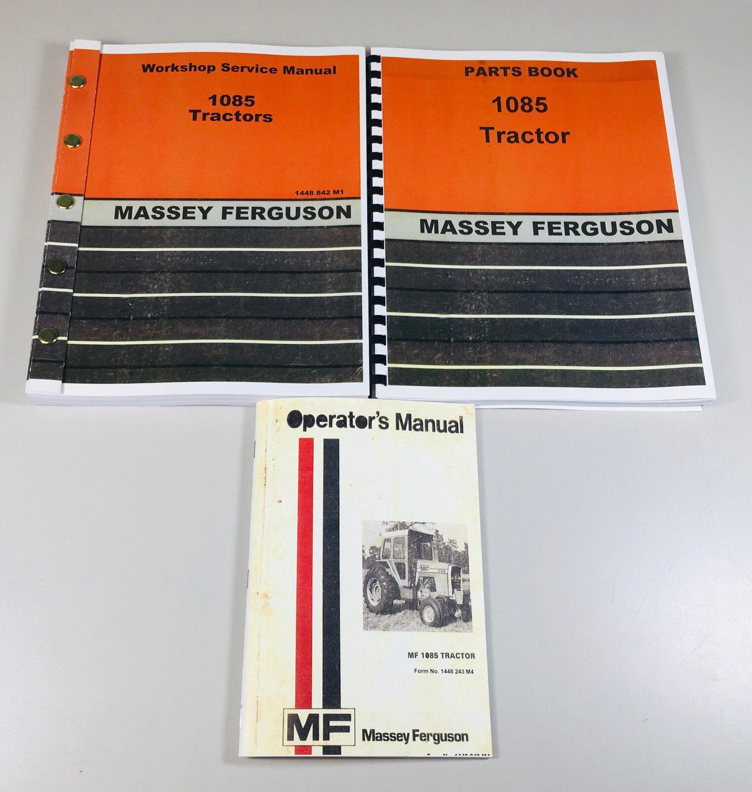 medium resolution of massey ferguson mf 1085 tractor service operators parts manual shopmf 1085 wiring diagram 18