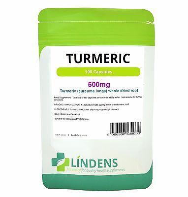 Kurkuma 500mg; 100 Kapseln reich an Kurkumin- keine Zusatzstoffe