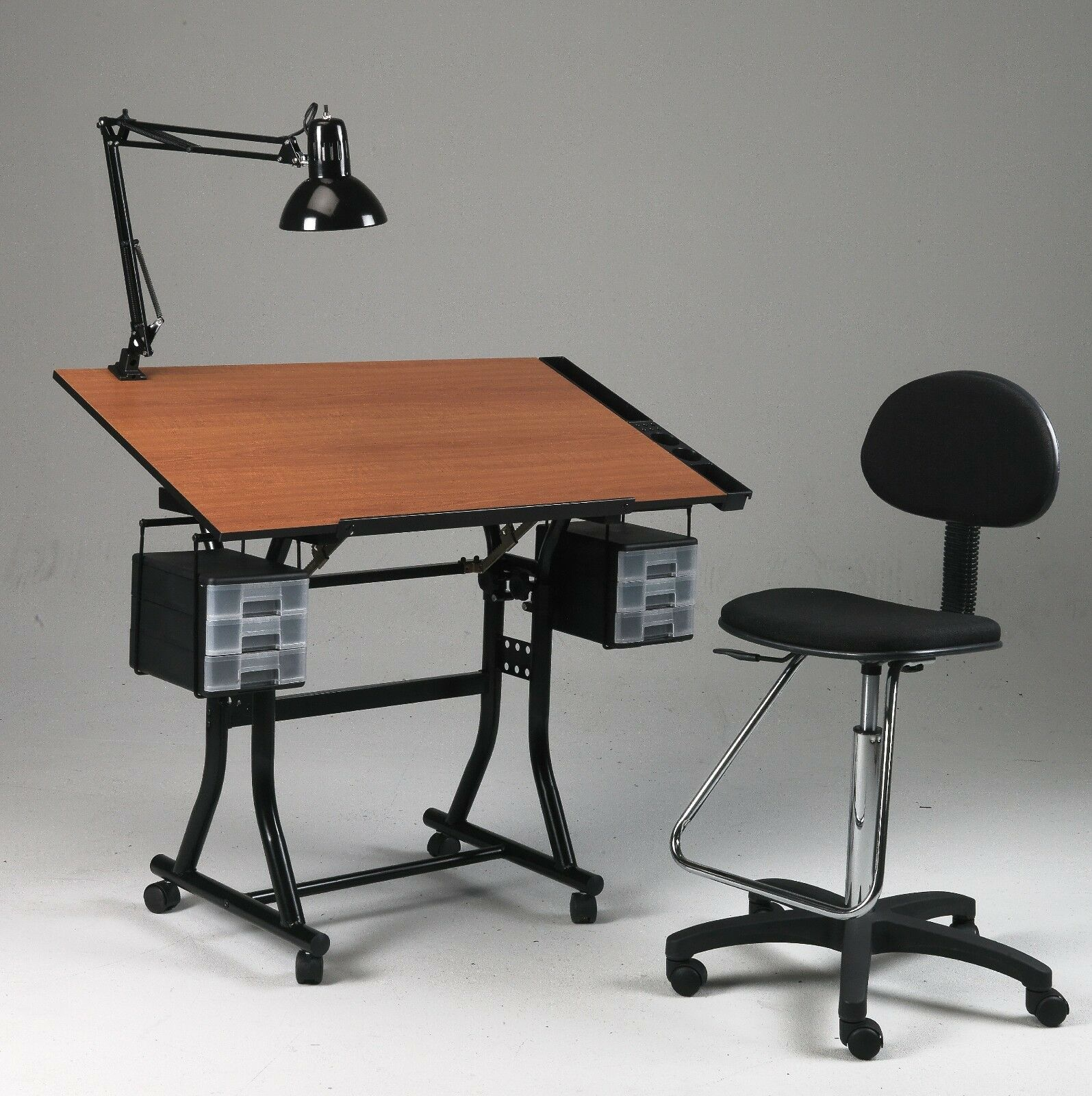 drafting table chairs swivel chair outdoor black drawing art hobby craft desk w