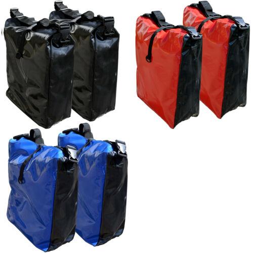 2x Fahrrad Tasche LKWplane spritzwassergesch. Gepäckträgertasche Blau