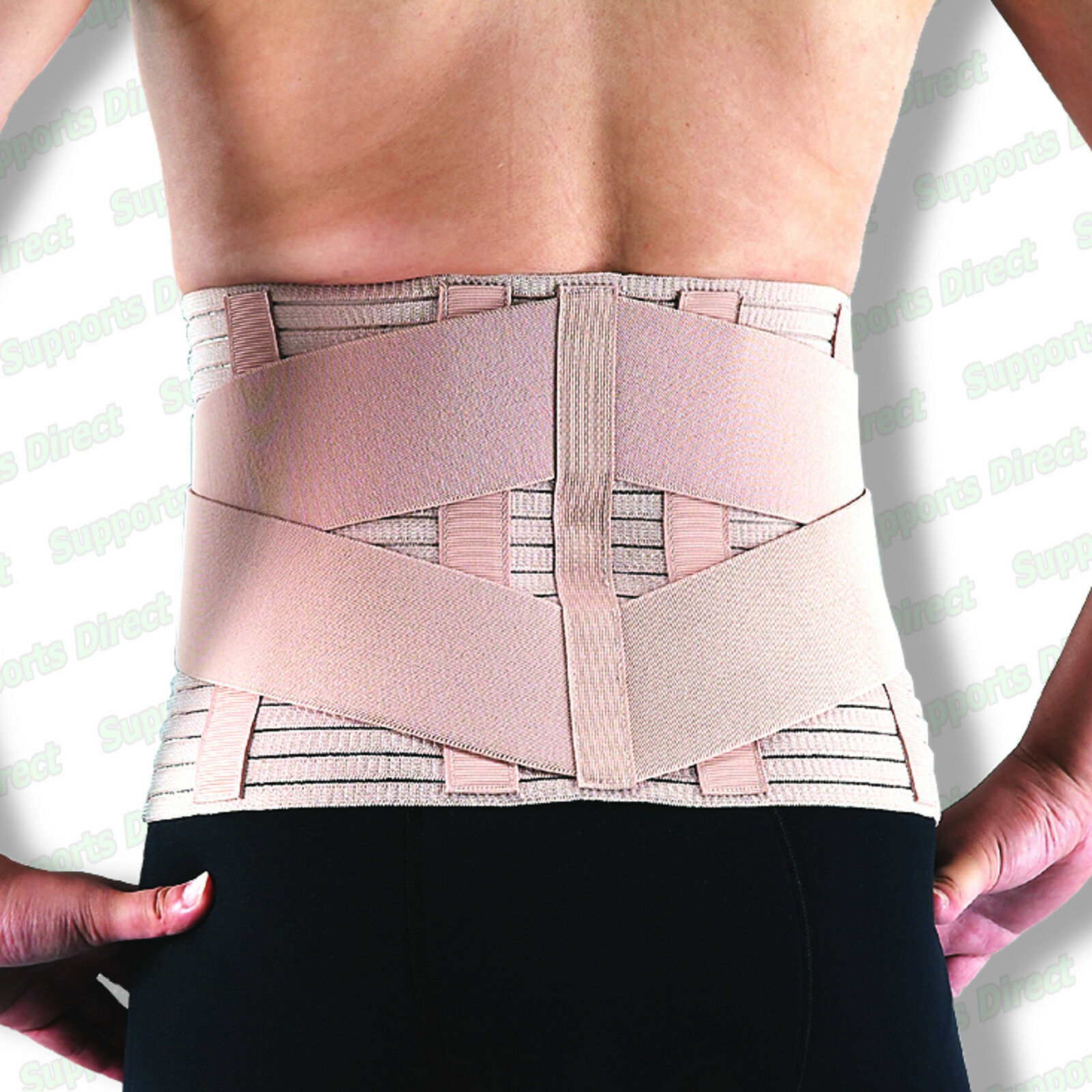 Breathable Lower Back Support Double Pull Strap Lumbar