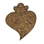 100 Natural Portuguese Black Viana S Heart Cork Trivet 0261 Ebay