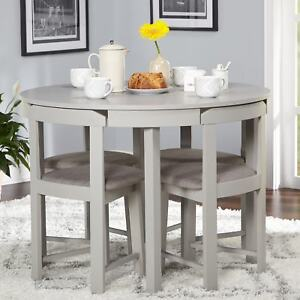 round kitchen table and chairs set best folding ebay 5 piece dining grey wood room 4 compact furniture