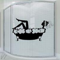 Bathroom Sexy Lady Girl Woman In Bath Wall Art Decal Vinyl ...