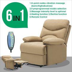 Ergonomic Recliner Chair White Garden Massage Sofa Microfiber Lounge