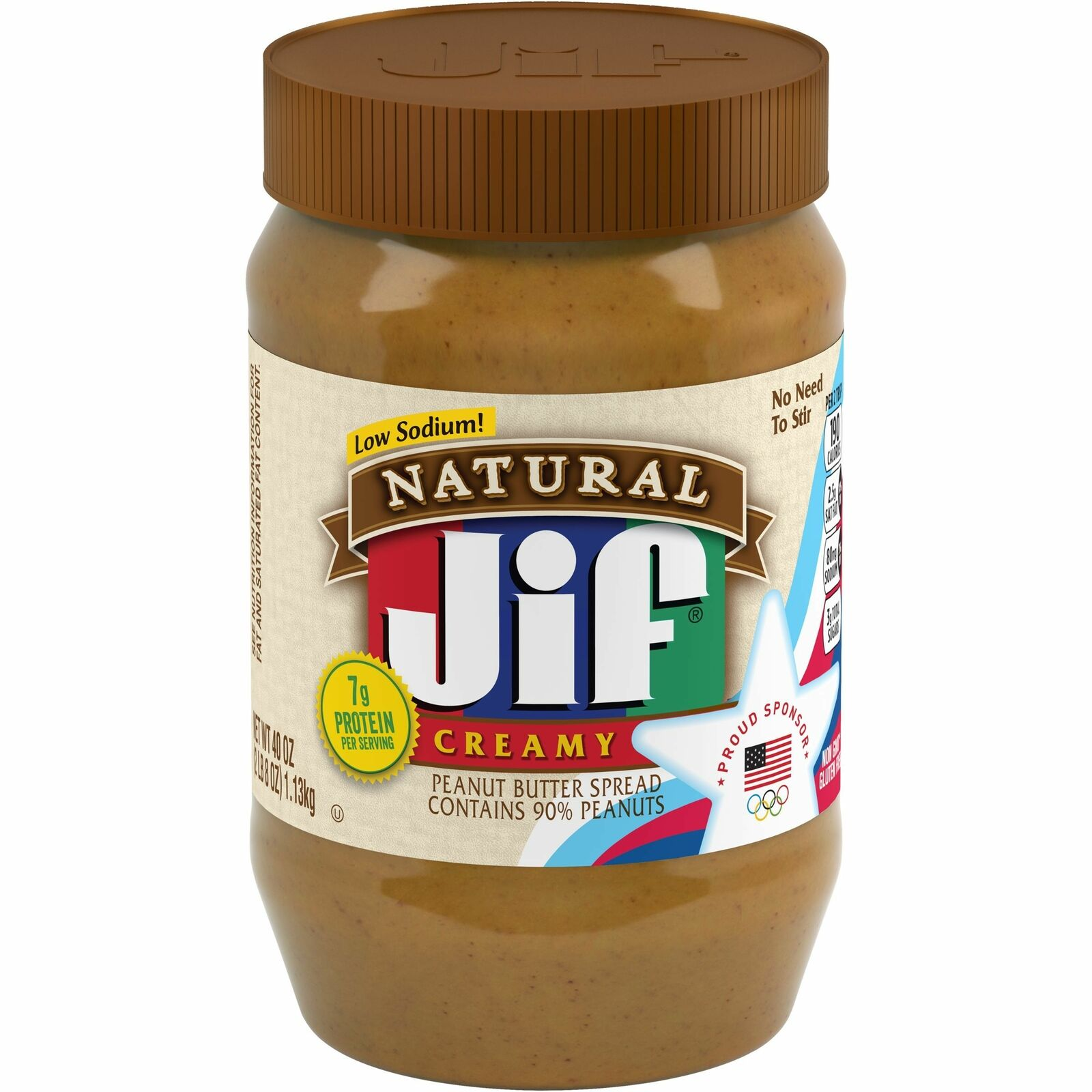 Jif Natural Creamy Peanut Butter Spread 40-Ounce ...