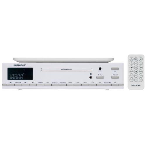 MEDION LIFE E66281 MD 84627 CD-Küchenunterbauradio RDS PLL UKW AUX-Eingang weiß