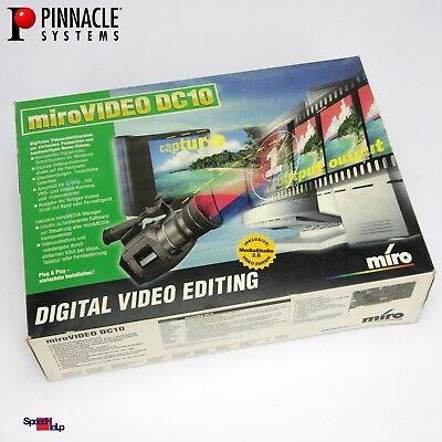VINTAGE PINNACLE MIRO VIDEO DC10 VIDEOSCHNITTKARTE PAL SECAM NTSC 601601 ZR36057