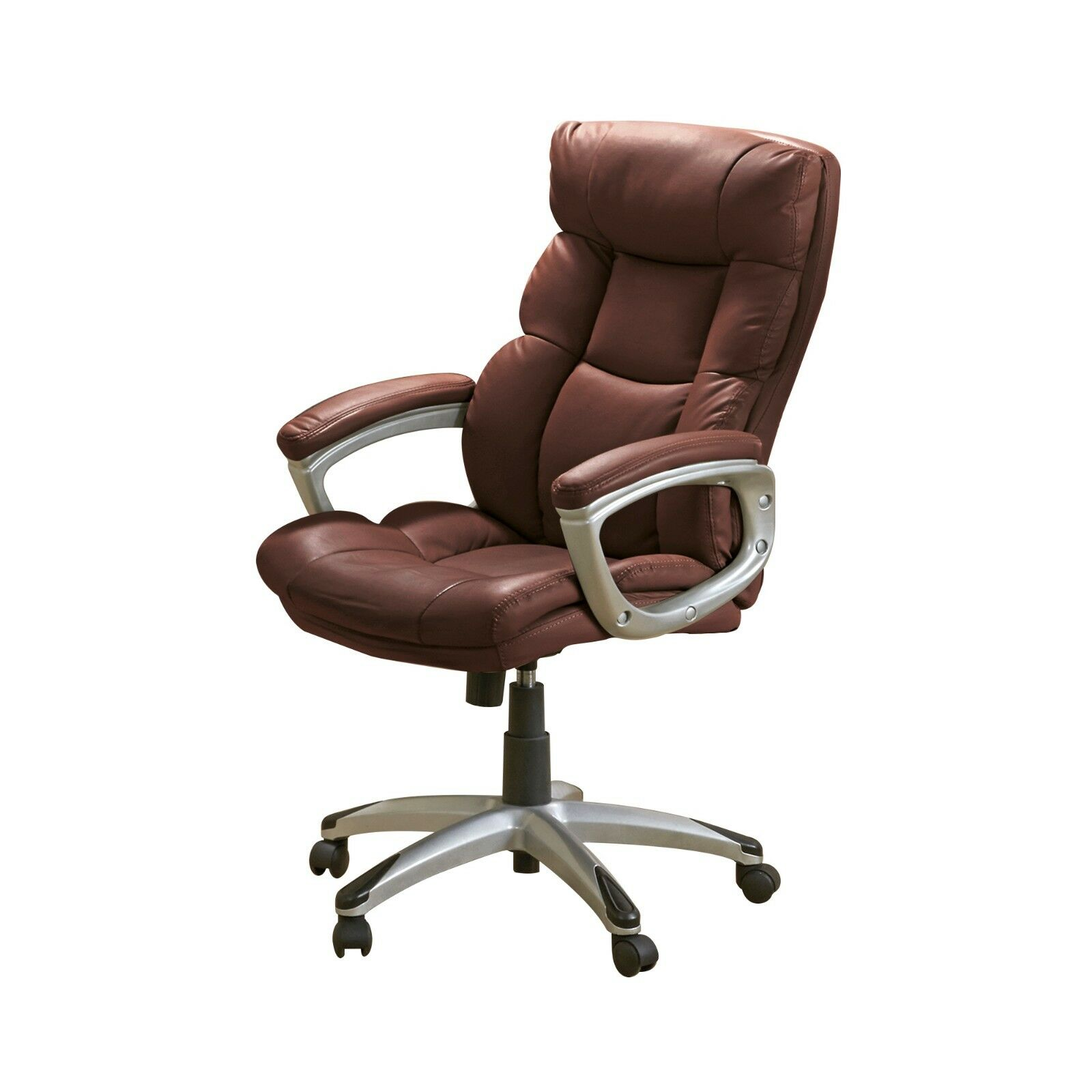 Executive Leather Chair Details About Executive Computer Chair Office Desk Swivel Tilt Leather Furniture High Back New