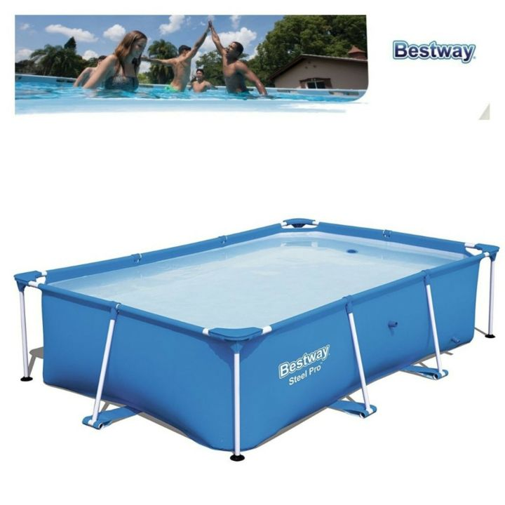 details about intex swimming pool family zinc frame easy set garden pool 3m  x 2m x 0.75m uk