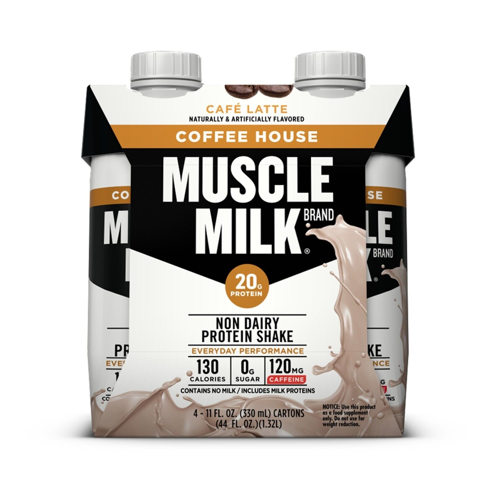 Muscle Milk Coffee House Café Latte Non Dairy Protein ...