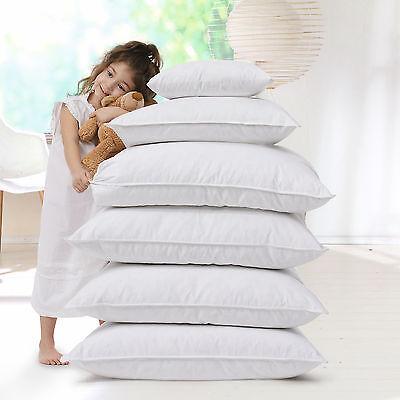 2 x Allergiker Kopfkissen Kissen 60° Wäsche Baumwollbezug Faserbällchen 40x80 cm