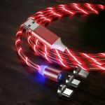 Magnetic LED Light Up Charger Charging Cable USB Cord for iPhone Android Samsung